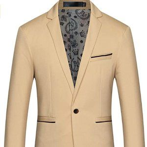 One Button Solid Color Jacket Blazer